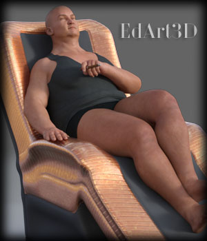 Morphing SciFi Armchairs and Poses for G3F And G3M 3D Figure Assets 3D Models EdArt3D