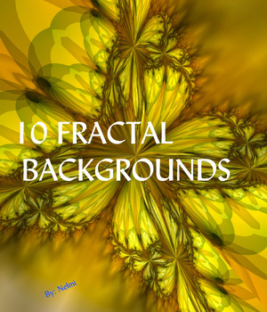 10 Fractal Backgrounds 2D Graphics nelmi