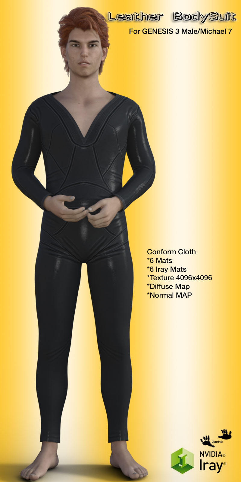 Leather BodySuit for G3M / Michael 7