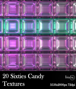 20 Sixties Candy Textures 2D Graphics biala