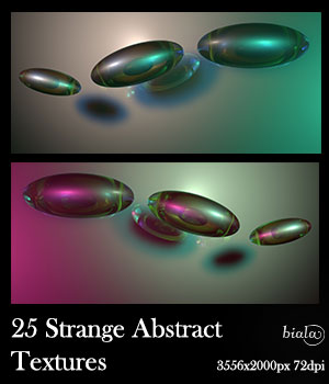 25 Strange Abstract Textures 2D biala