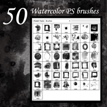 50 Watercolor PS Brushes image 7