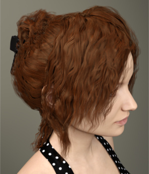 Margot Hair for Genesis 3 Female(s) 3D Figure Assets Toyen
