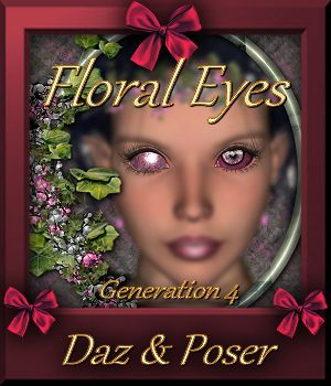 Botany : Floral Eyes for Daz and Poser 3D Figure Assets farfadelf