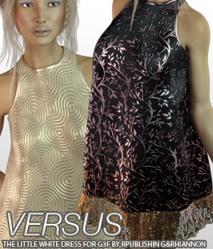 VERSUS - The Little White Dress for Genesis 3 3D Figure Essentials Anagord