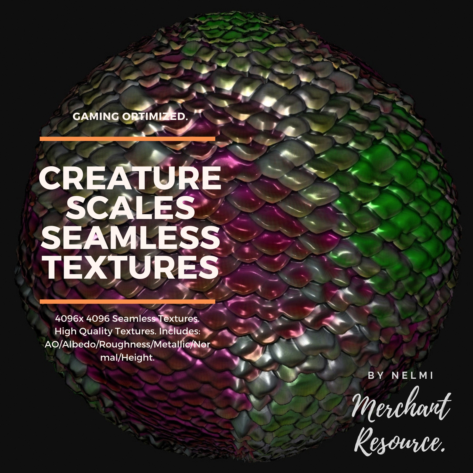 15 Creature Scales Textures with Texture Maps 2D Graphics
