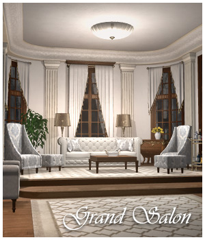 Grand Salon 3D Models GrayCloudDesign