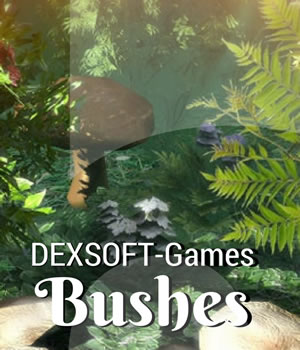 Bushes 3D Models Extended Licenses 3D Game Models : OBJ : FBX dexsoft-games