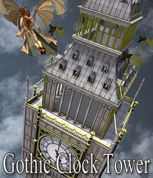 Gothic Clock Tower 3D Models ile-avalon