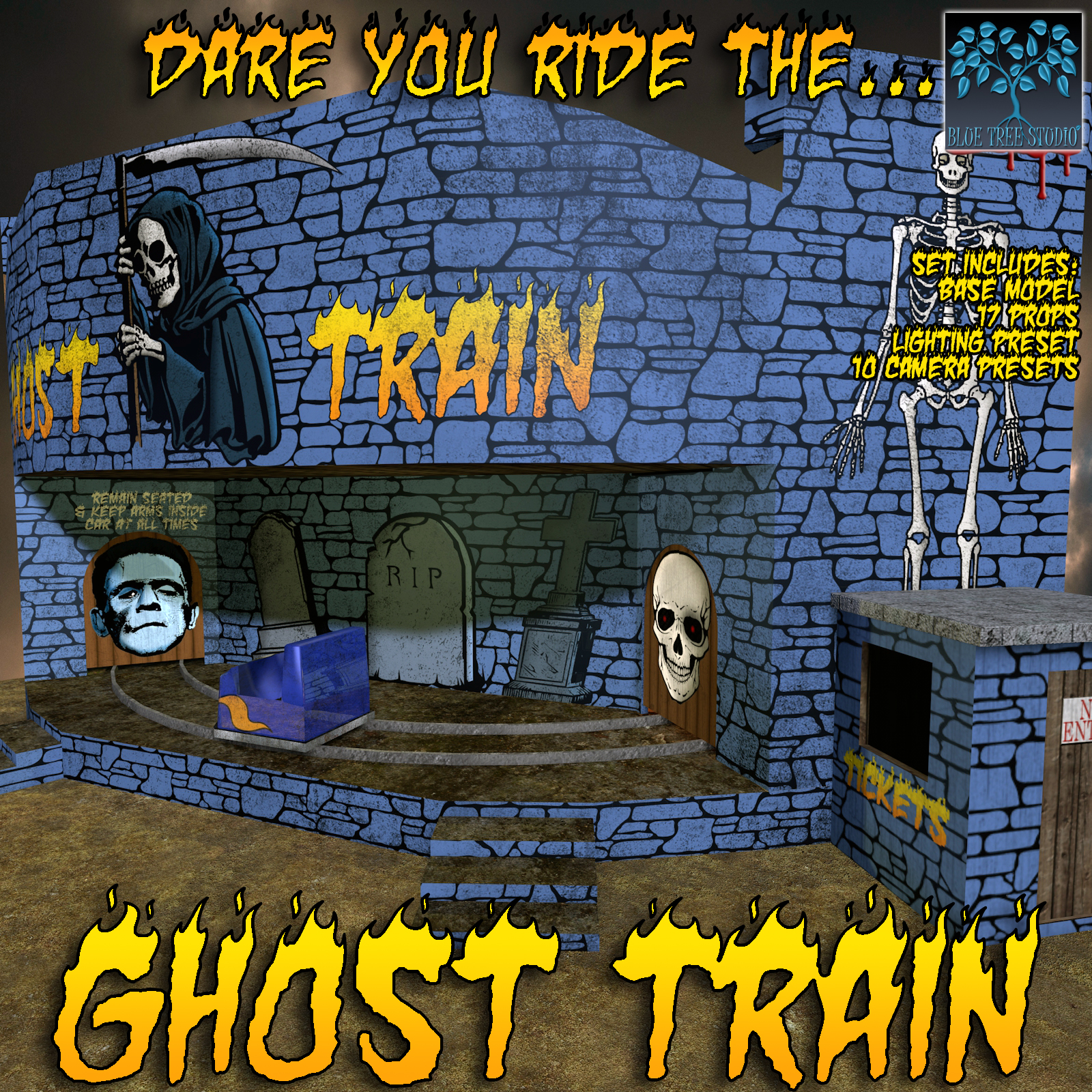 Ghost Train by BlueTreeStudio