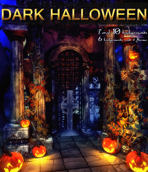 Dark Halloween - 2D backgrounds 2D Graphics bonbonka