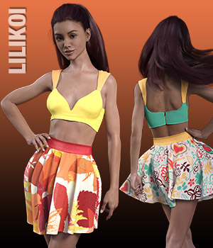 LILIKOI Textures for Cathy's Outfit 3D Figure Essentials versluis