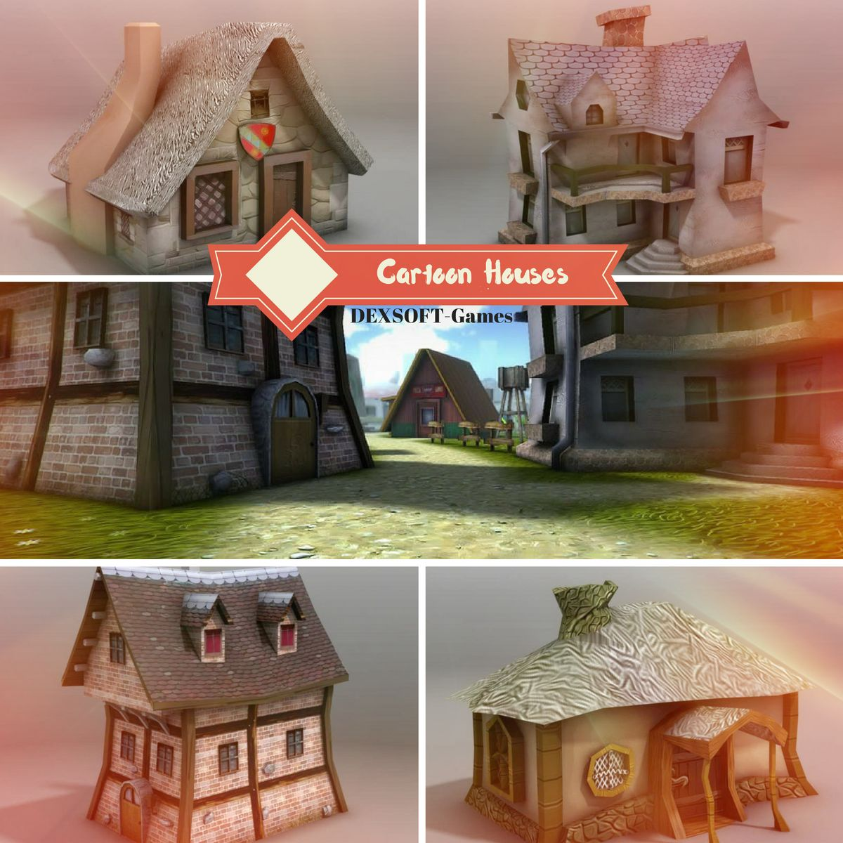 Cartoon Houses - Extended License