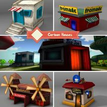 Cartoon Houses - Extended License image 1