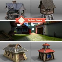 Cartoon Houses - Extended License image 2