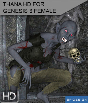 Thana HD Vampire Character for Genesis 3 Female 3D Figure Essentials SF-Design