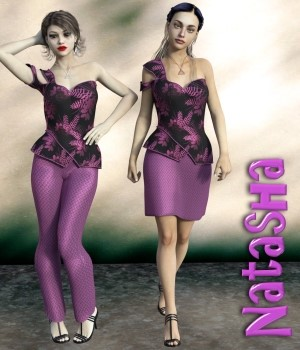 Natasha Clothing Set for G3F 3D Figure Essentials chasmata