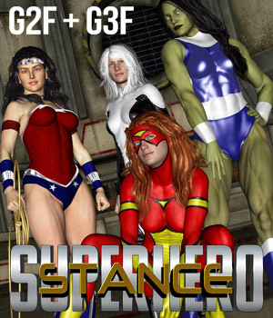 SuperHero Stance for G2F & G3F Volume 1  3D Figure Essentials GriffinFX