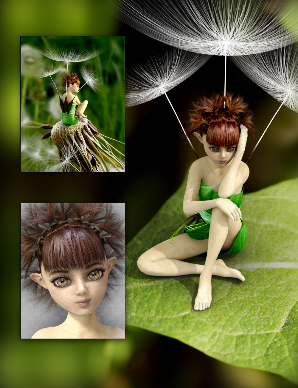 Dandelion for Genesis 3 Female Bundle