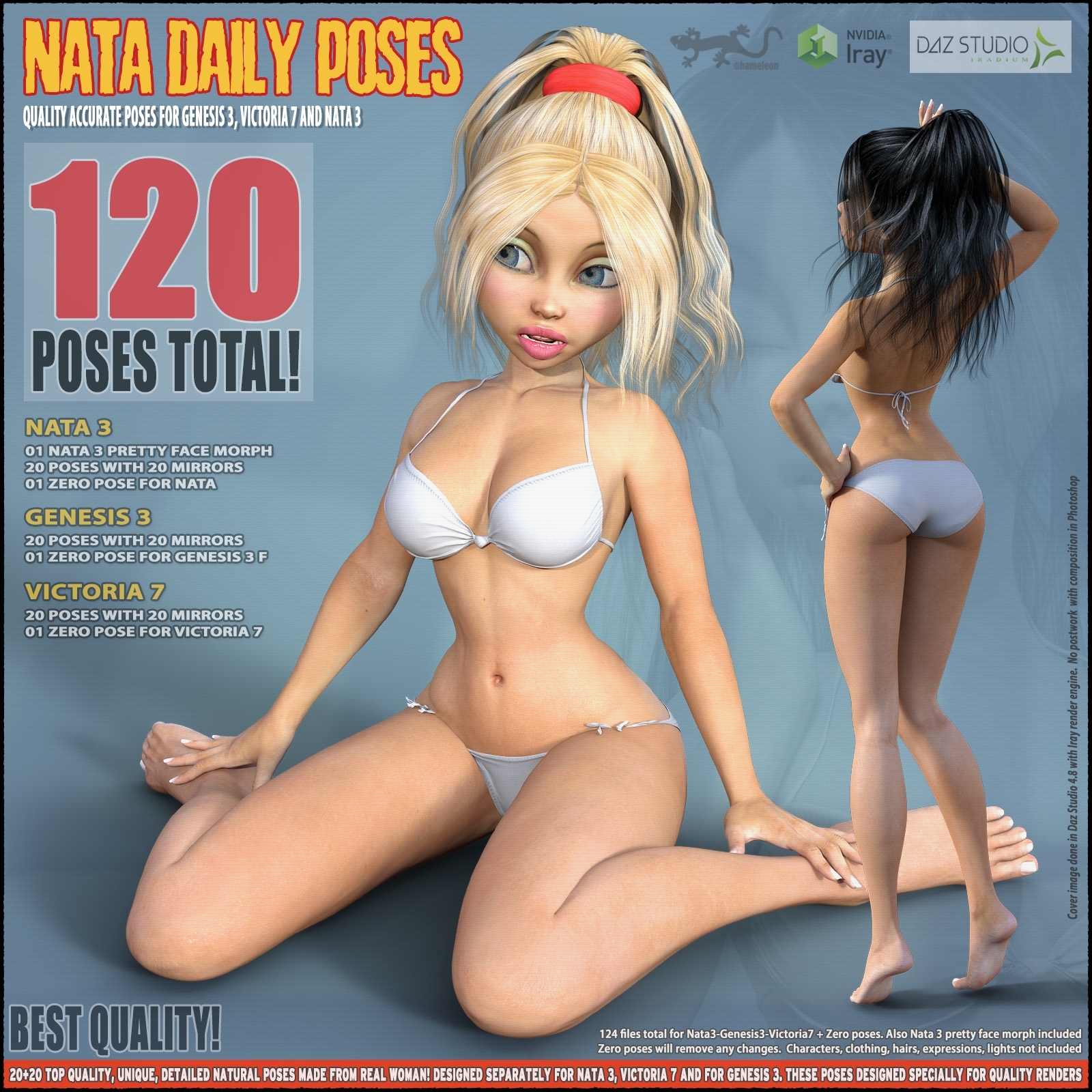 Daily Poses for Nata3, G3, V7