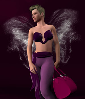 Easy Fairytelling Angel Dust Wings 3D Models biala