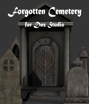 Forgotten Cemetery for Daz Studio 3D Models TMDesign