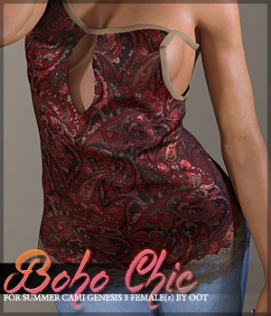 Boho Chic Summer Cami 3D Figure Essentials Sveva