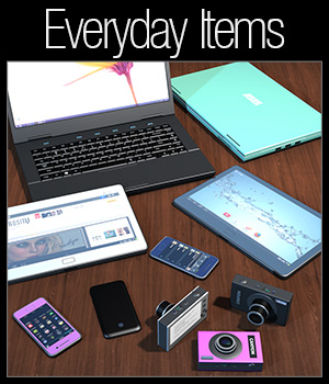 Everyday items, Electronic devices - Extended License 3D Models Extended Licenses 2nd_World