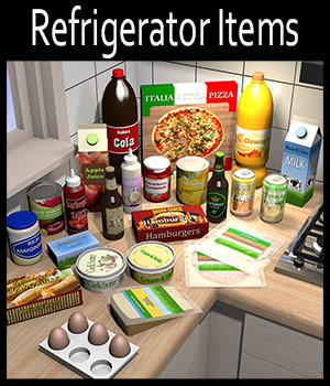 Everyday items, Refrigerator - Extended License 3D Models Extended Licenses 2nd_World