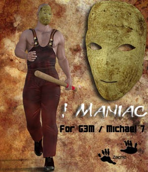 Maniac for Genesis 3 Male - Michael 7 3D Figure Assets zachary