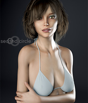 Jessica for Genesis 3 Female 3D Figure Assets secondcircle