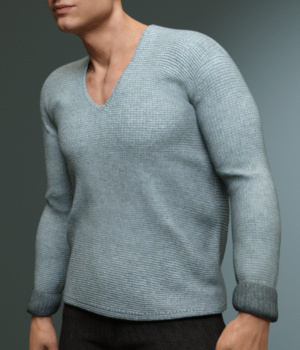 Lowneck Sweater for Genesis 3 Male(s)  3D Figure Assets Toyen