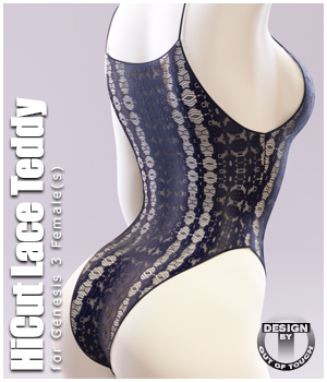 HiCut Lace Teddy for Genesis 3 Females and Nata3 3D Figure Assets outoftouch