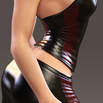 Leather Cami Set for Genesis 3 Females and Nata3 image 3