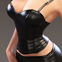 Leather Cami Set for Genesis 3 Females and Nata3 image 4