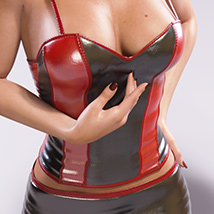 Leather Cami Set for Genesis 3 Females and Nata3 image 5