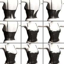 Leather Cami Set for Genesis 3 Females and Nata3 image 8