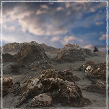3D Scenery: Spiky Cliffs image 1