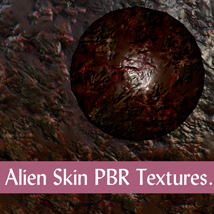 10 Seamless Alien Skin PBR Textures and Texture Maps - Gaming Assets image 1