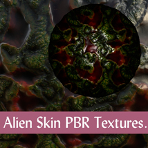 10 Seamless Alien Skin PBR Textures and Texture Maps - Gaming Assets image 2