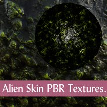 10 Seamless Alien Skin PBR Textures and Texture Maps - Gaming Assets image 3