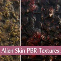 10 Seamless Alien Skin PBR Textures and Texture Maps - Gaming Assets image 5