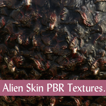 10 Seamless Alien Skin PBR Textures and Texture Maps - Gaming Assets image 8