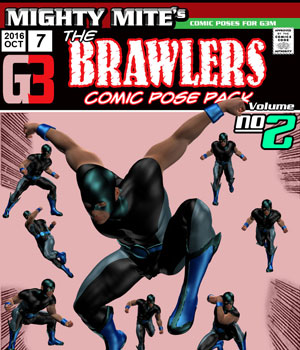 The Brawlers v02 : By MightyMite for G3M 3D Figure Assets MightyMite