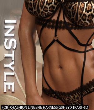 InStyle - X-Fashion Lingerie Harness for Genesis 3 Females 3D Figure Essentials -Valkyrie-