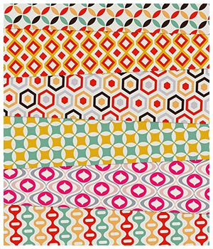 Retro Fabric Prints 2D Merchant Resources Medeina