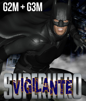SuperHero Vigilante for G2M & G3M Volume 1  3D Figure Essentials GriffinFX