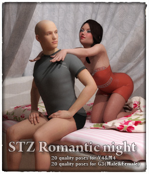 STZ Romantic night 3D Figure Assets santuziy78