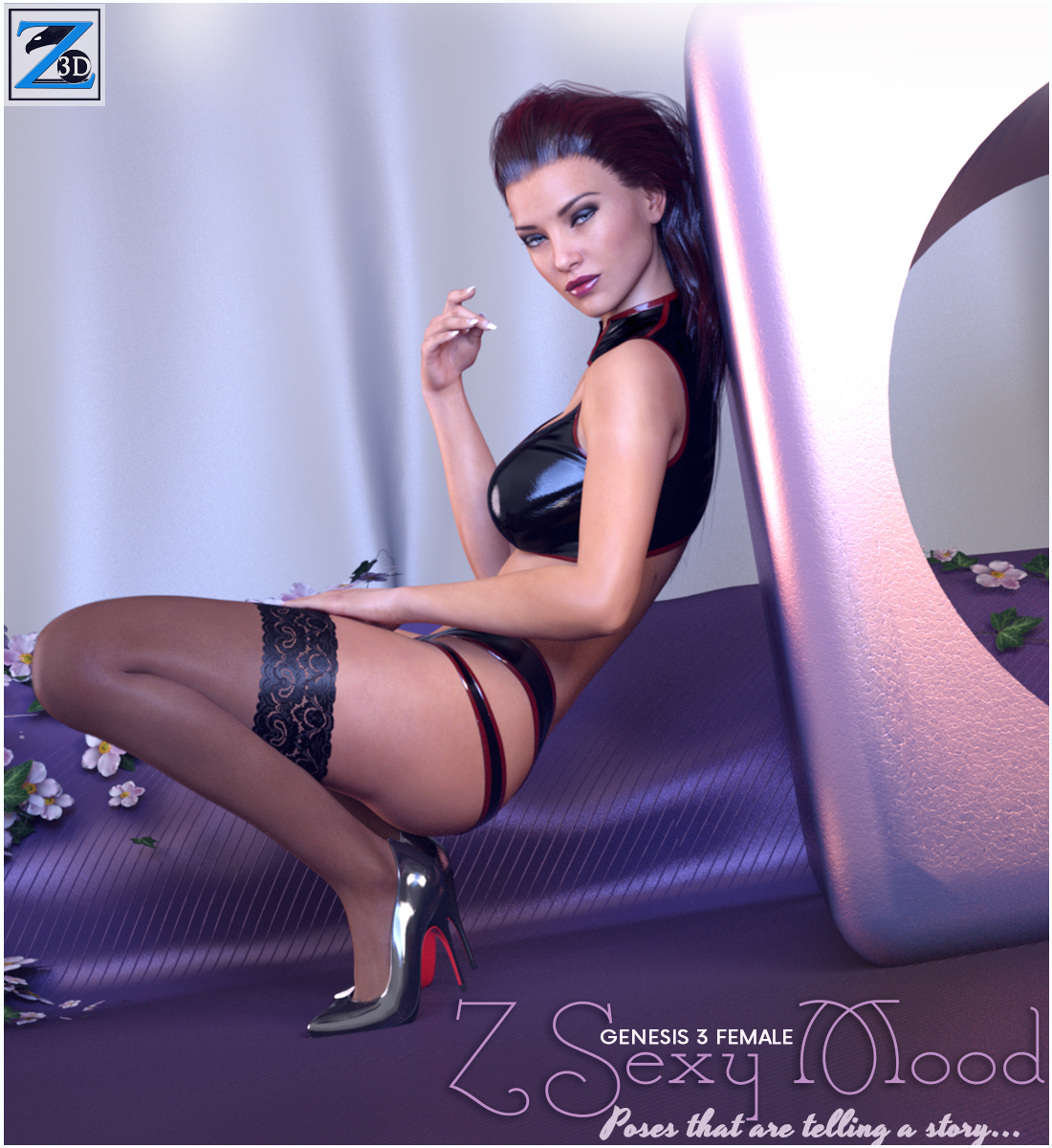 Z Sexy Mood - Poses for the Genesis 3 Female(s) by Zeddicuss