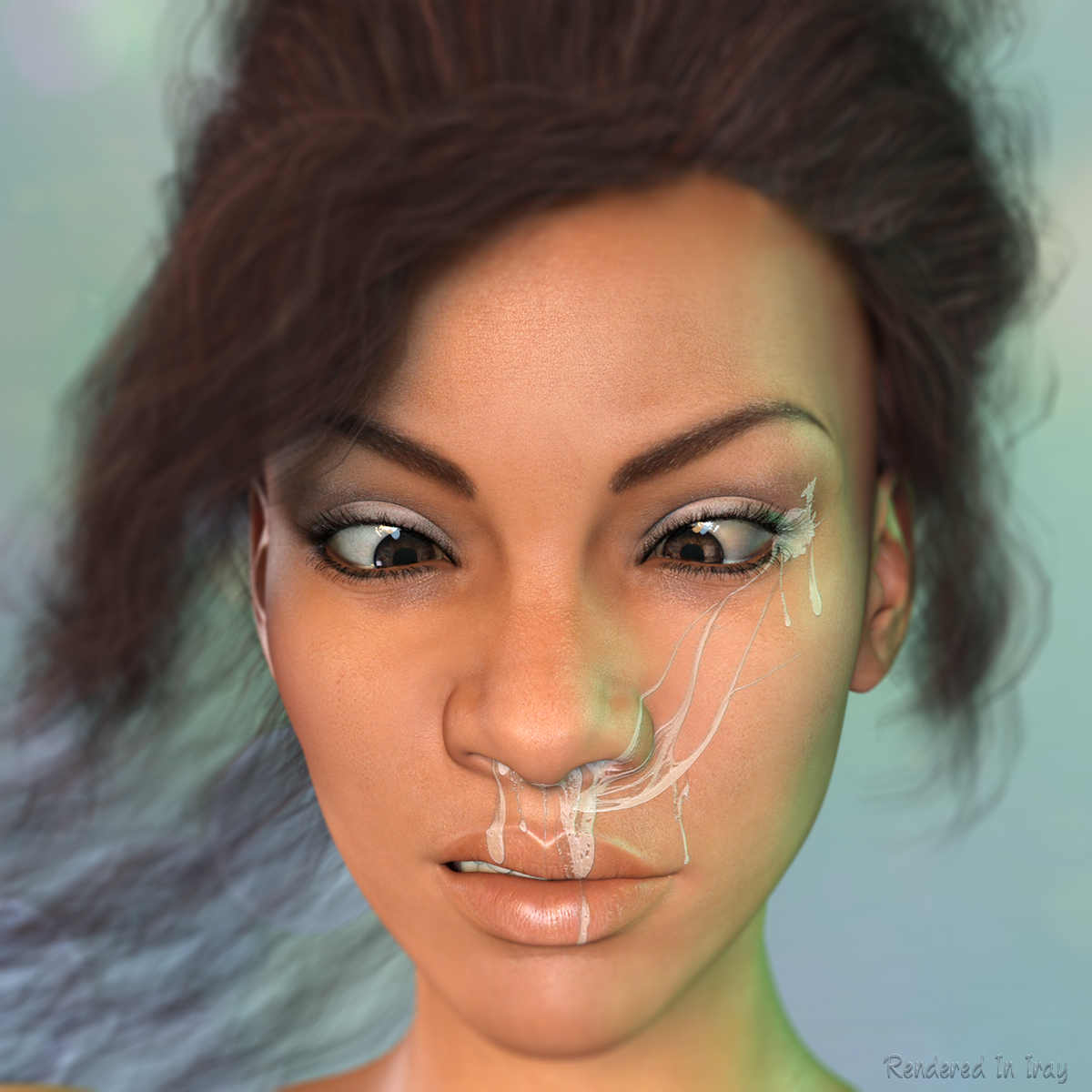 L.I.E. Snot And Slime Faces For Genesis 3 Female